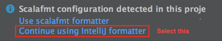 IntelliJ scalafmt formatter